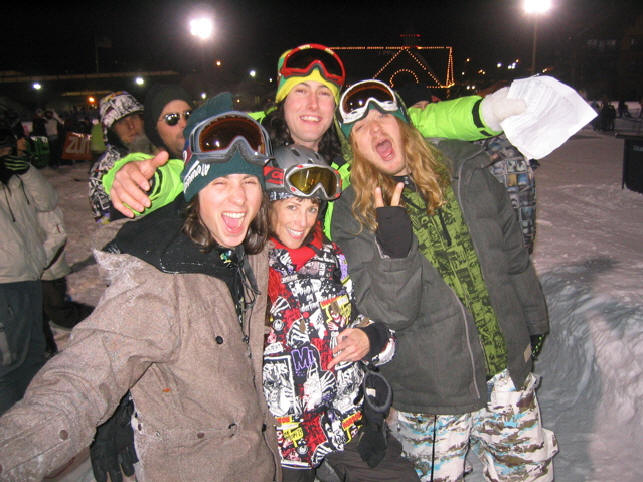 Danny Kass, Sketchy D, The Dingo, and Lauren Traub Teton at Grenade Strikes Back